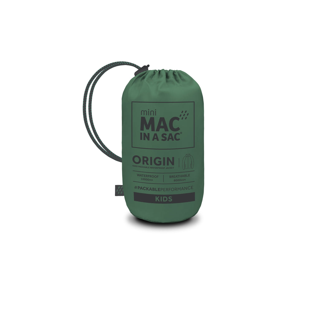 Bottle Green Mac in a Sac 2 Kids Packaway Jacket