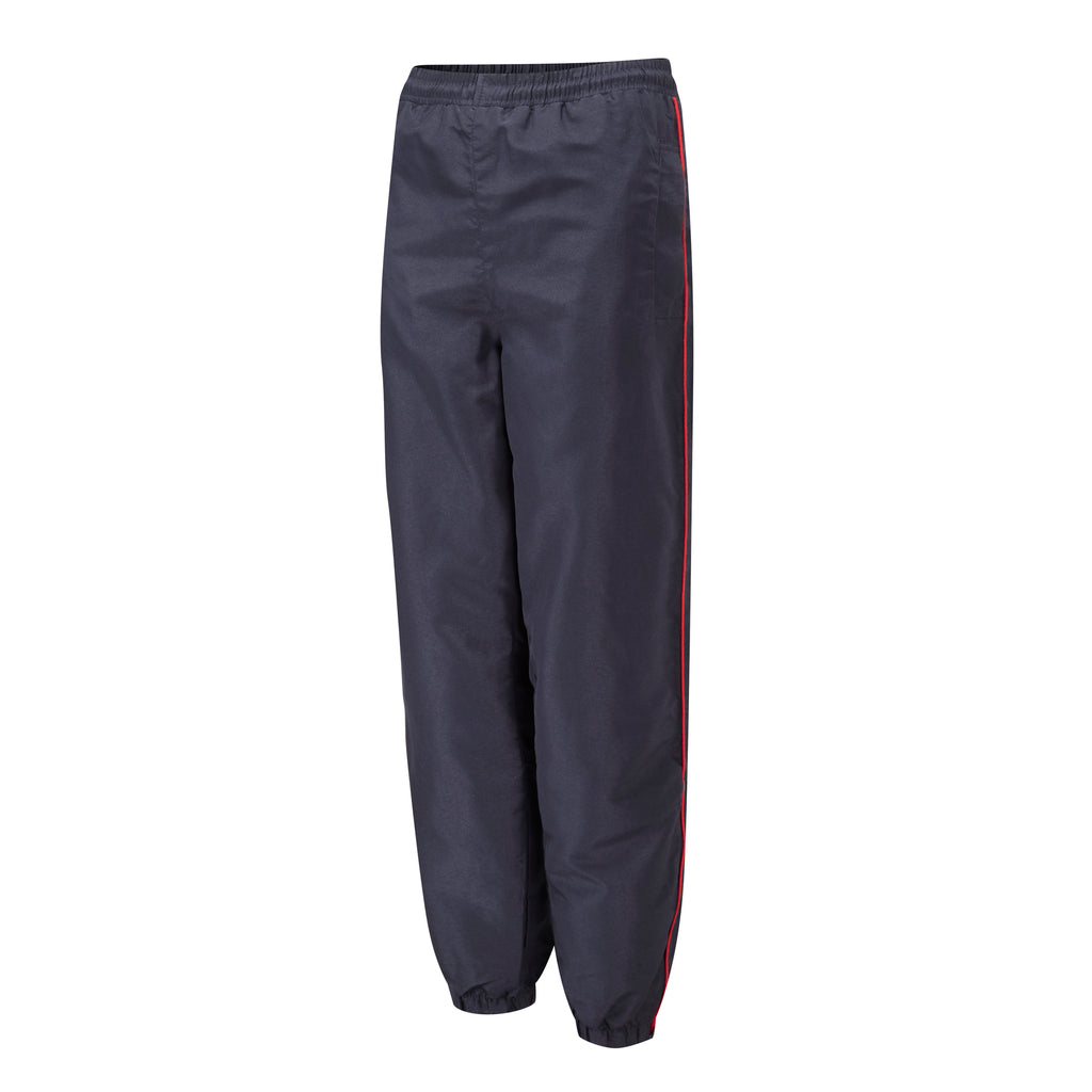 Navy/Red Piping Tracksuit Bottoms