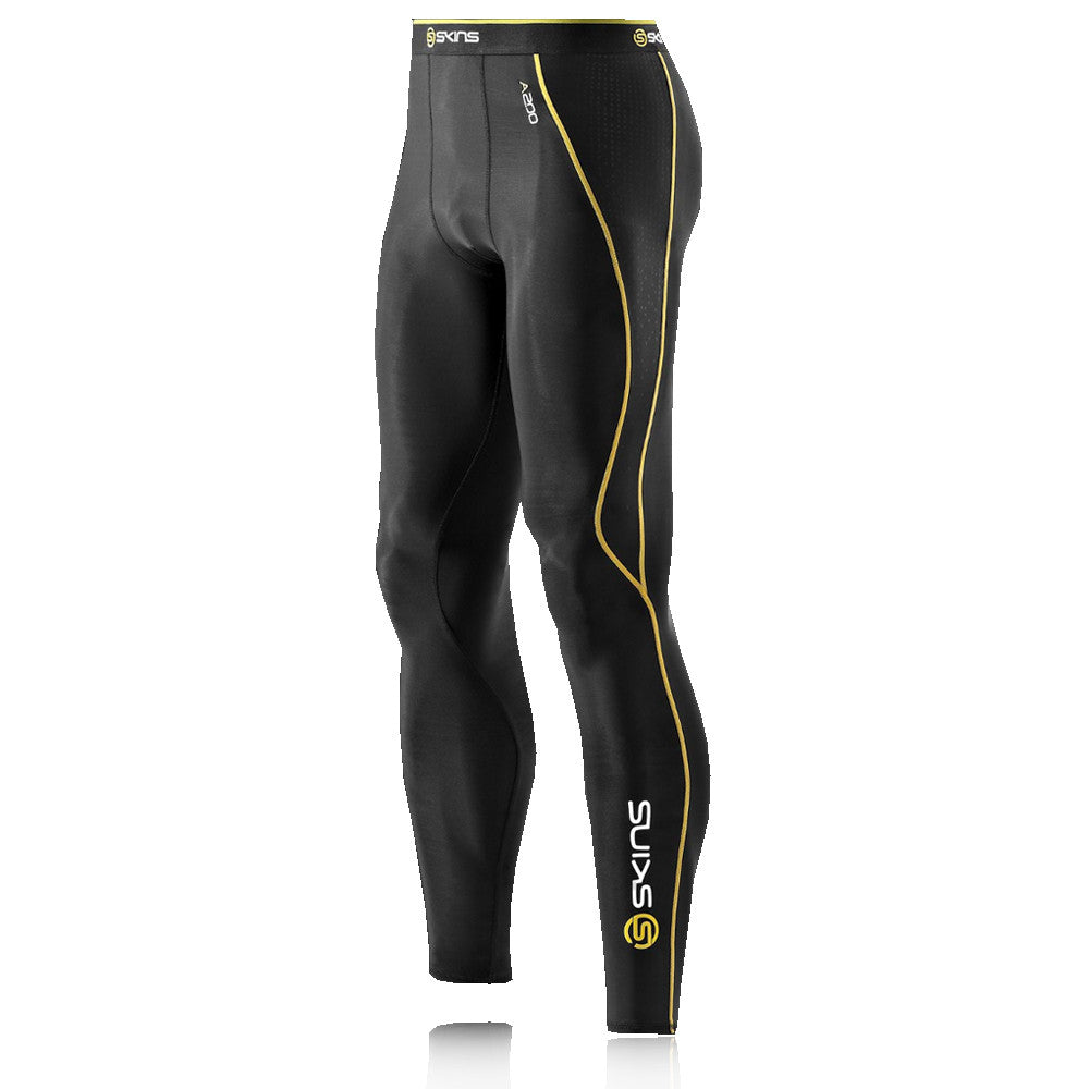 Black Yellow Skins Baselayer Leggings