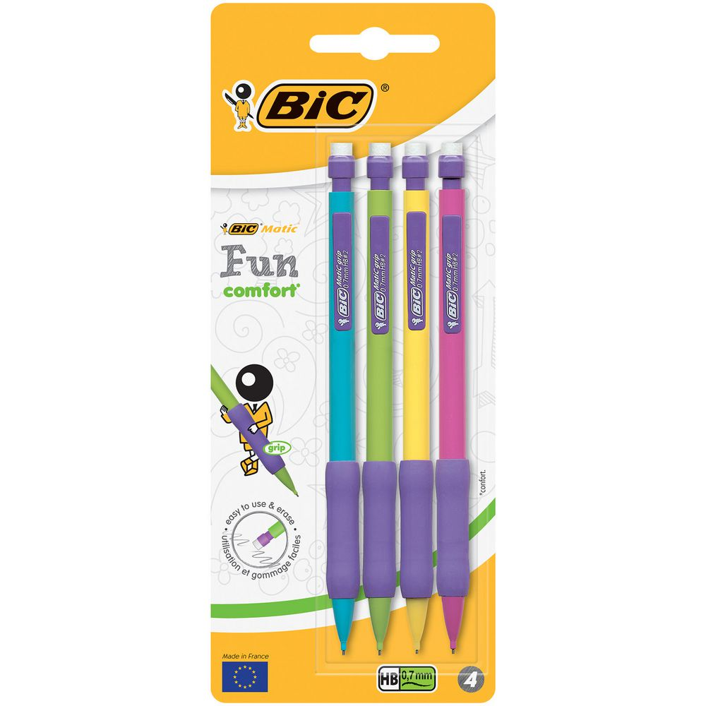 Bic Matic Fun Grip Pencils