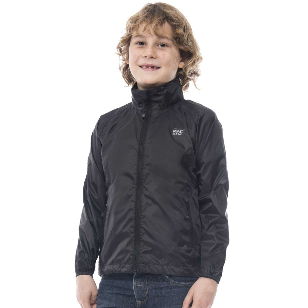 Black Mac in a Sac 2 Kids Packaway Jacket