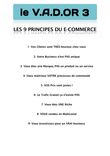 Les 9 Principes du e-Commerce - e-Commerce - Modeles.biz