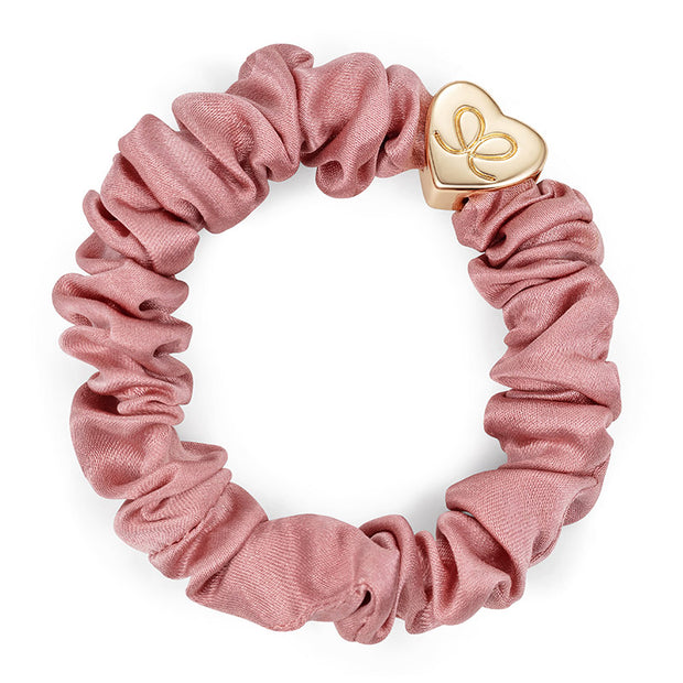 Gold Heart Silk Scrunchie-Div Accessories-Bogartstore