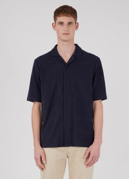 Towelling Camp Collar Shirt-Skjorter-Bogartstore