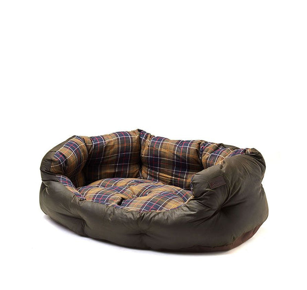 Wax cotton dog bed 35-Barbour-Bogartstore