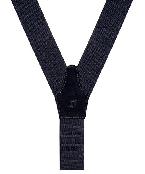 Braces Solid Black-Div Accessories-Bogartstore