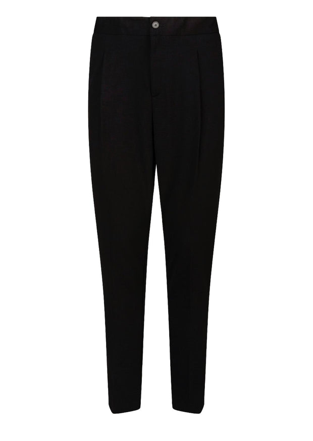 Casual pleated drawstring trousers-Bukser-Bogartstore
