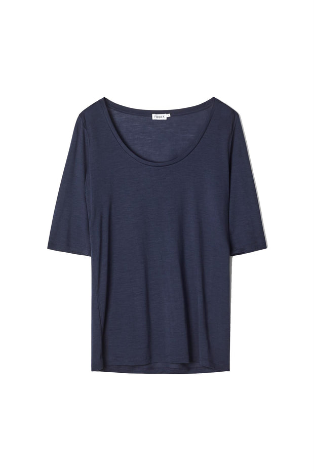 Tencel scoop - neck tee-Topp-Bogartstore