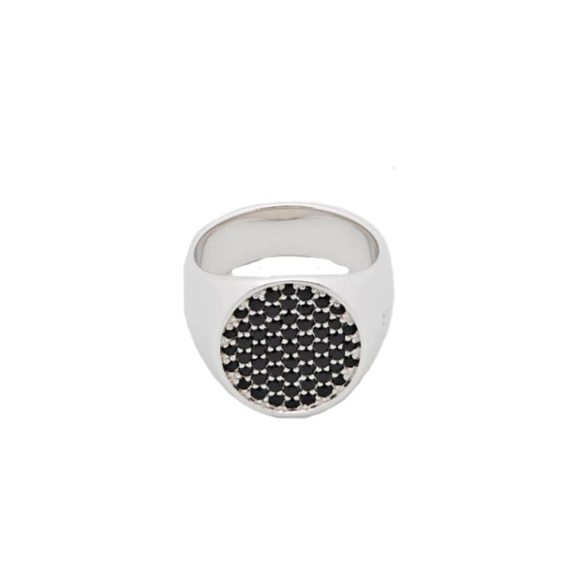 Pinkie Oval Black Spinal-Ring-Bogartstore