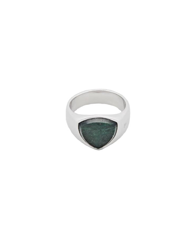 Shield Green Marble-Ring-Bogartstore