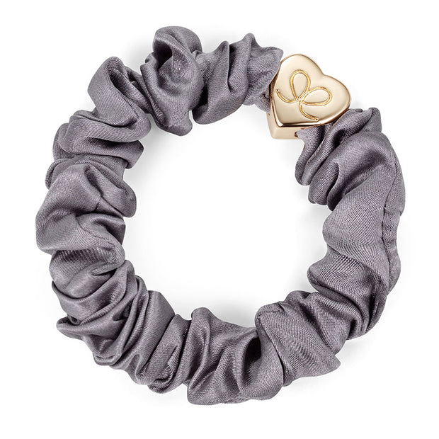 Gold Heart Silk Scrunchie-byEloise - London-Bogartstore