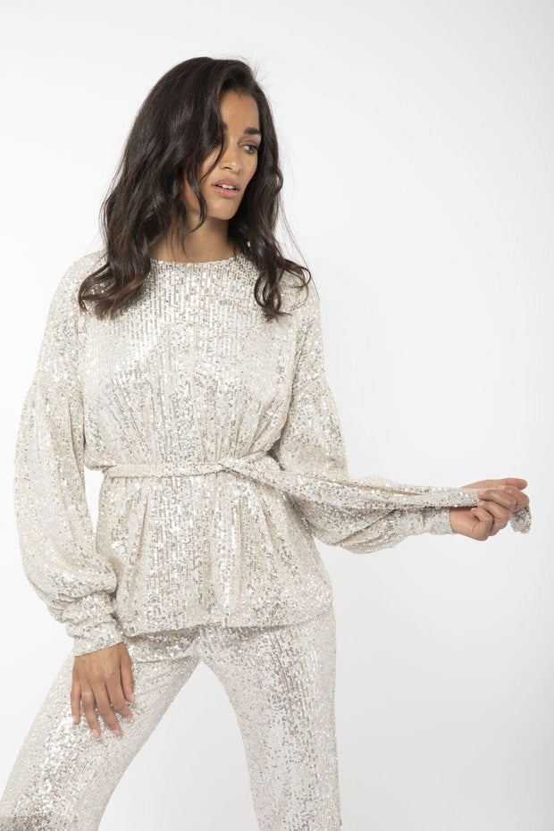 Moonlight Sequin Top-Camilla Pihl-Bogartstore