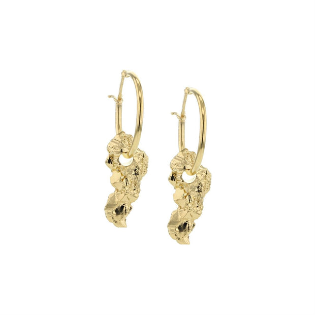 Rocks fools gold earrings-Smykker-Bogartstore
