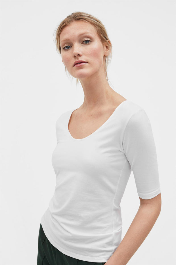 Cotton Stretch Scoop Neck Top-Filippa K-Bogartstore