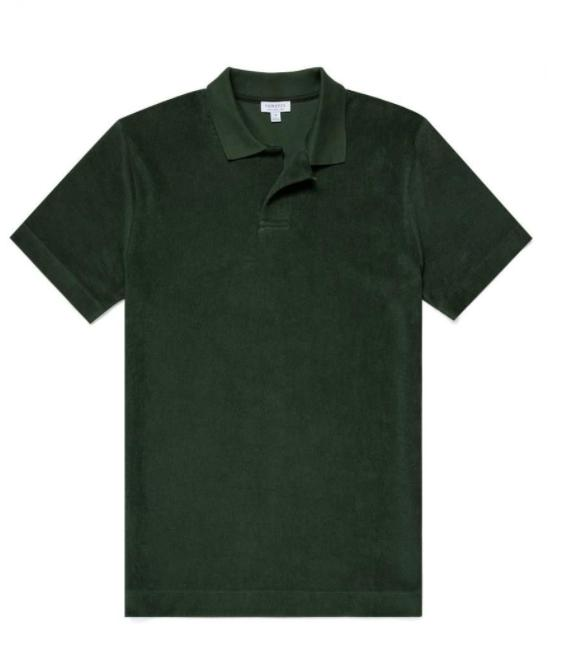 Short Sleeve Terry Polo-T-skjorte-Bogartstore