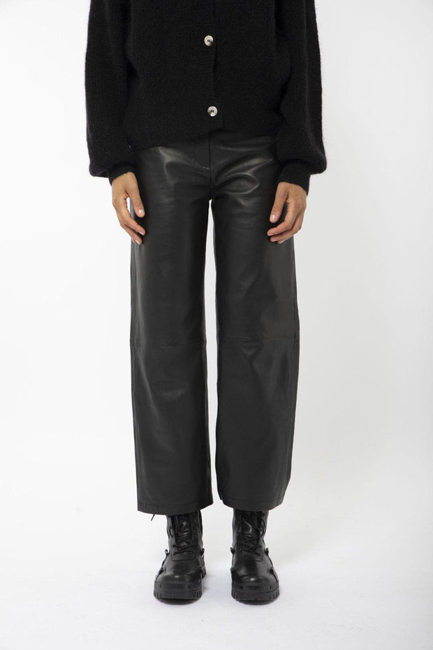 Rimo Leather Trousers-Camilla Pihl-Bogartstore