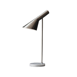 Smoked metal table lamp
