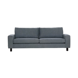 3 seater sofa in grey fabric and black legs