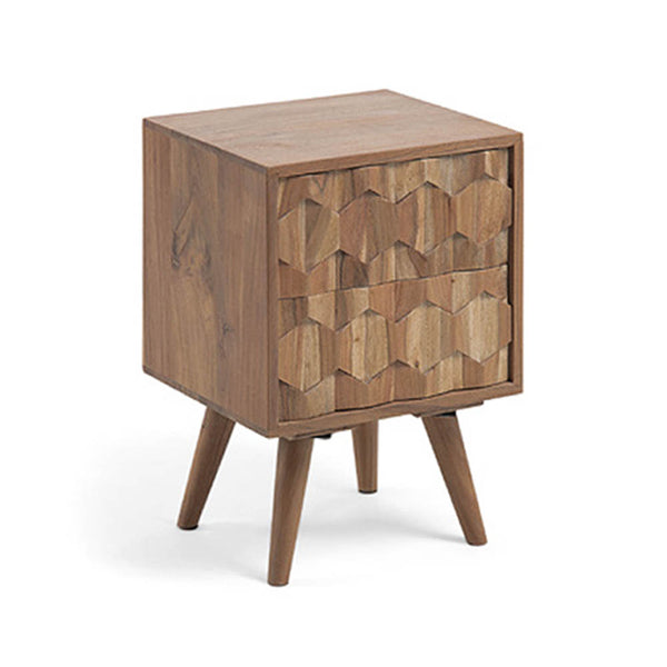 Oak wood bedside table