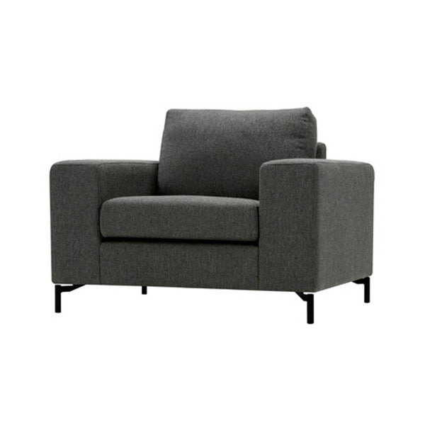 Armchair in grey fabric