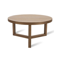 Walnut round coffee table