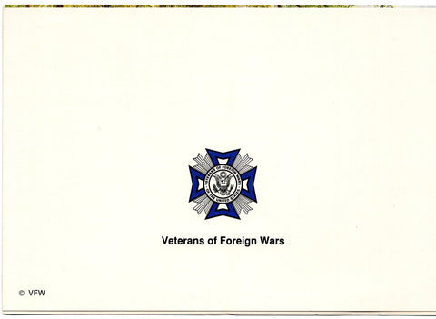 Veterans of Foreign Wars of the US Blank Art Painting Greeting Card