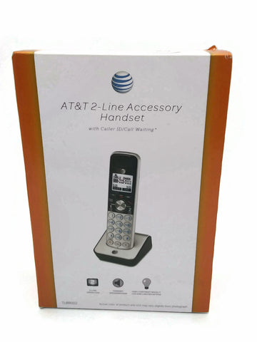 AT&T TL88002 DECT 6.0 Accessory Handset for TL88102, Silver/Black