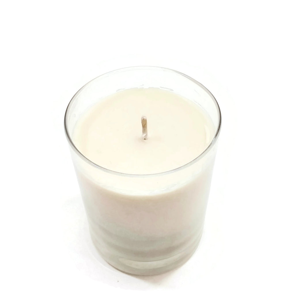 Vanilla Scented White Glass Jar Candle