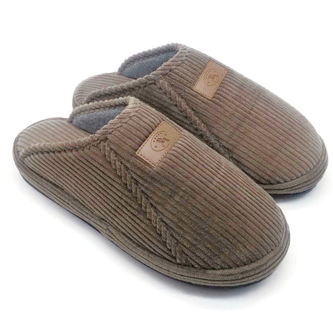 Naot Dafna Comfort Men's Indoor Slippers House Shoes Slip On Clogs Khaki/Gray