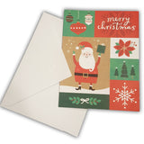 Merry Christmas Greeting Card with envelope Santa Claus