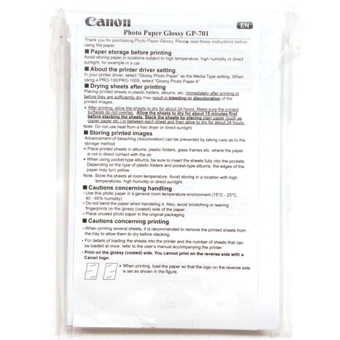 "Canon Photo Paper Glossy GP-701 4"" x 6"" NEW Sealed"