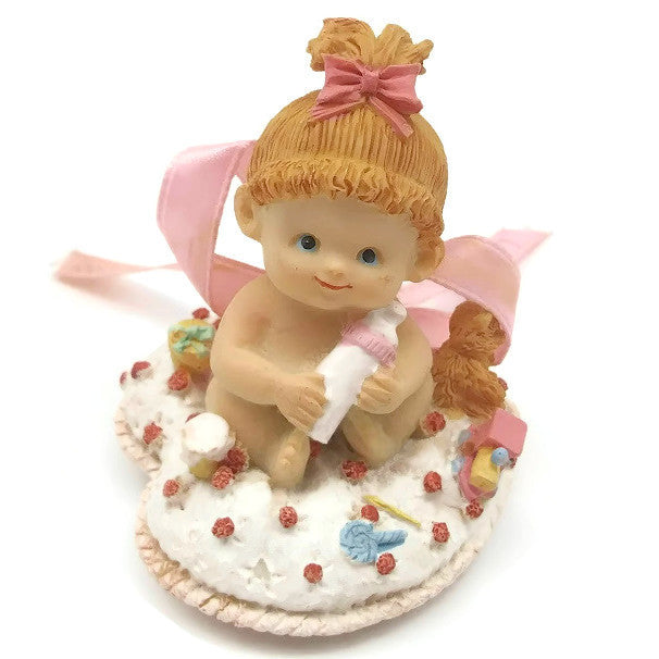 "Precious Moments Figurine ""Lydia's Baby Showers July 25, 1998 – Baby Girl"