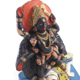 Handmade Ganges Clay Mother Mata Kali Kalika India Goddess Standing Over Shiva