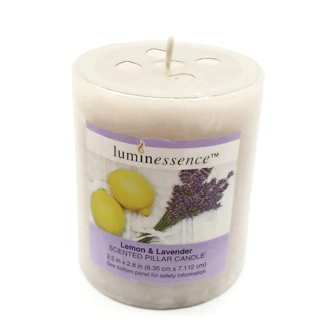 Luminessence Candle,  Lemon & Lavender Scented 6.9 oz  - NEW