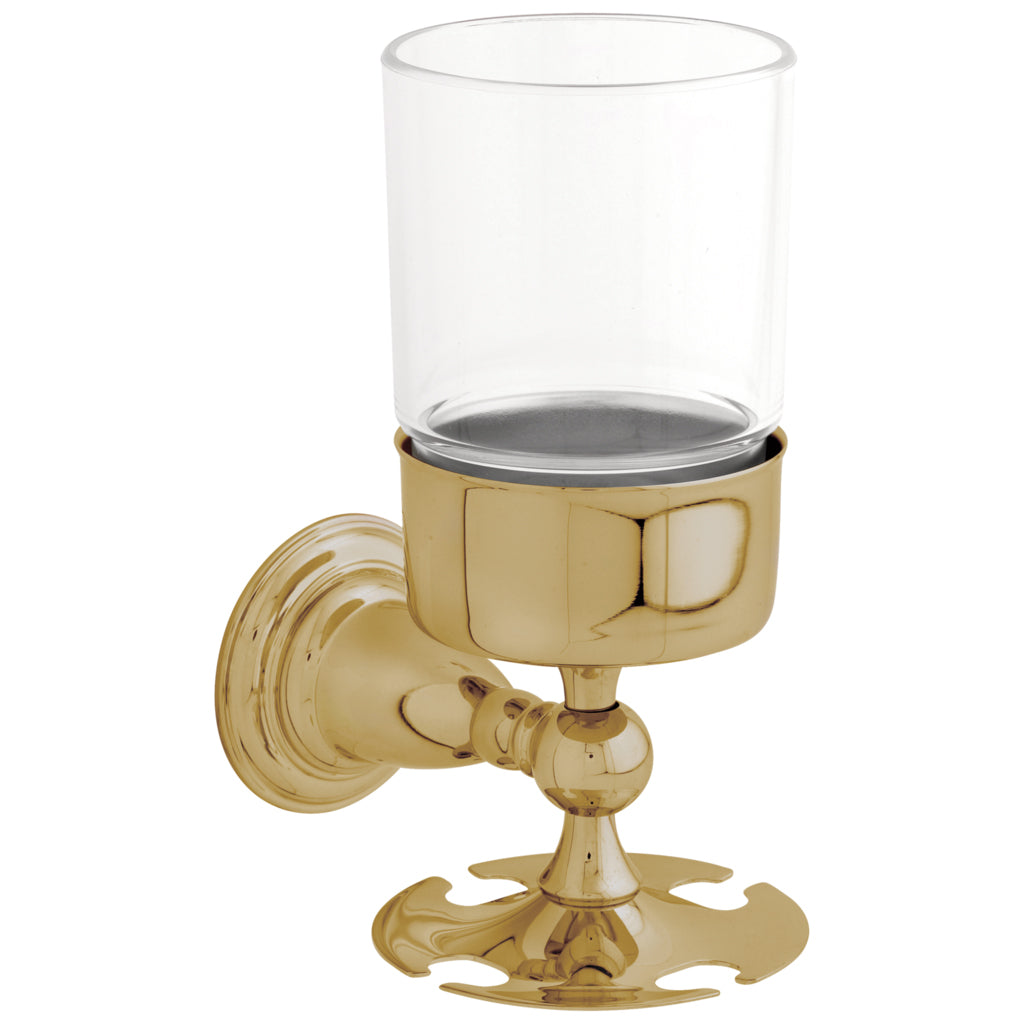 Delta 75056 Victorian Toothbrush Tumbler Wall Mount in Polished Brass Bathroom