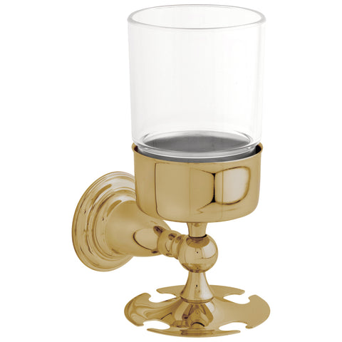 Delta 75056 Victorian Toothbrush Tumbler Wall Mount in Polished Brass Finish