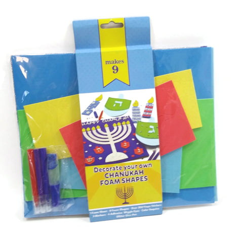 Decorate Your Own Chanukah Foam Shapes Hanukah Gift Toy Art & Crafts