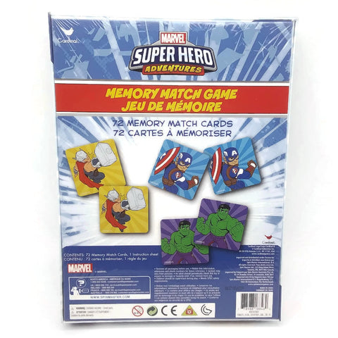 Marvel Super Hero Adventures Memory Match Game 72 Cards - NEW !
