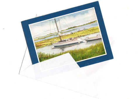 May Your Birthday Be a Happy One Birthday Greeting Card A Boat On The Lake