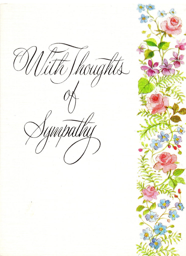 With Thoughts of Sympathy Greeting Card