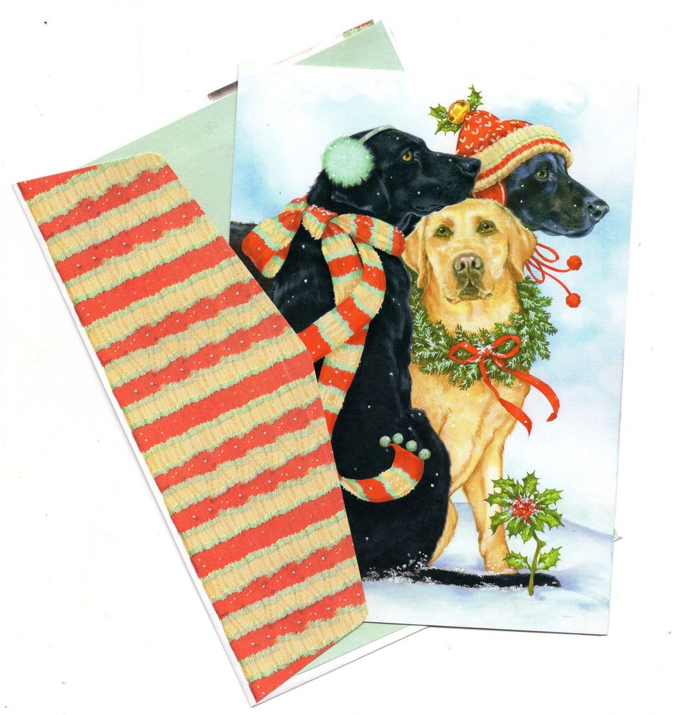 Happy Holidays Pets Dogs Lovers Christmas Holiday Seasons Greeting Card