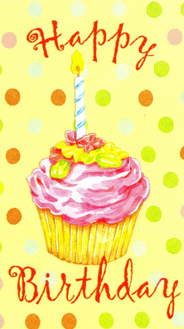 Happy 1st Birthday Cup Cake Greeting Card