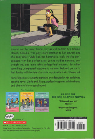 Claudia and Mean Janine The Baby Sitters Club Novel 4 by Raina Telgemeier