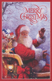 Christmas Greeting Card with envelope Santa Claus