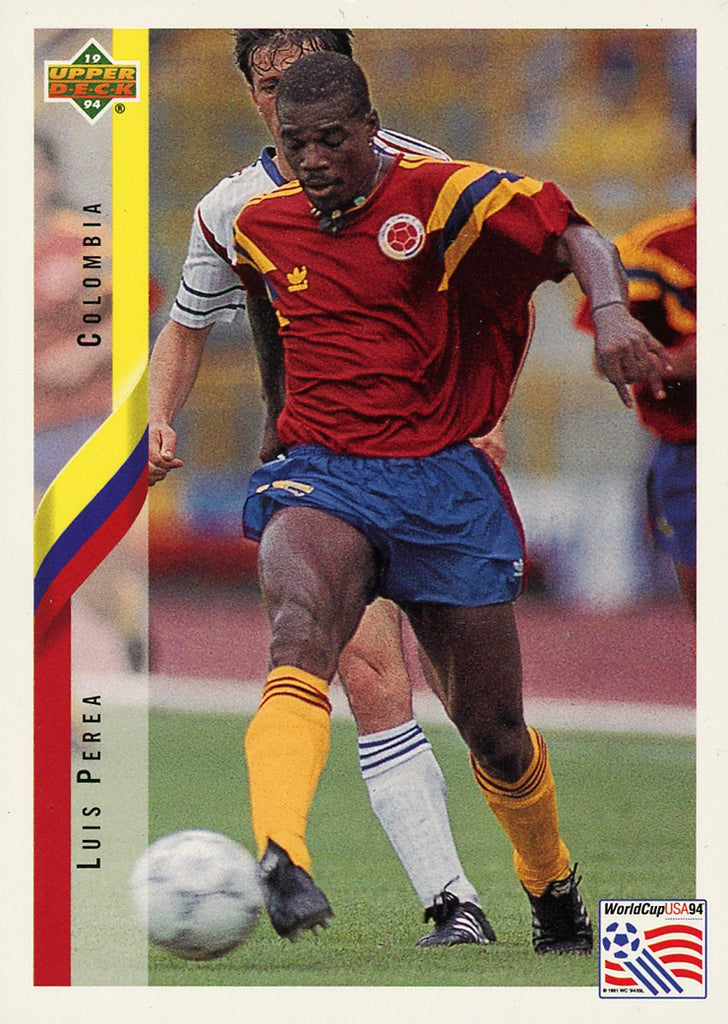 Luis Perea Colombia Upper Deck #56 World Cup USA '94 Soccer Sport Card