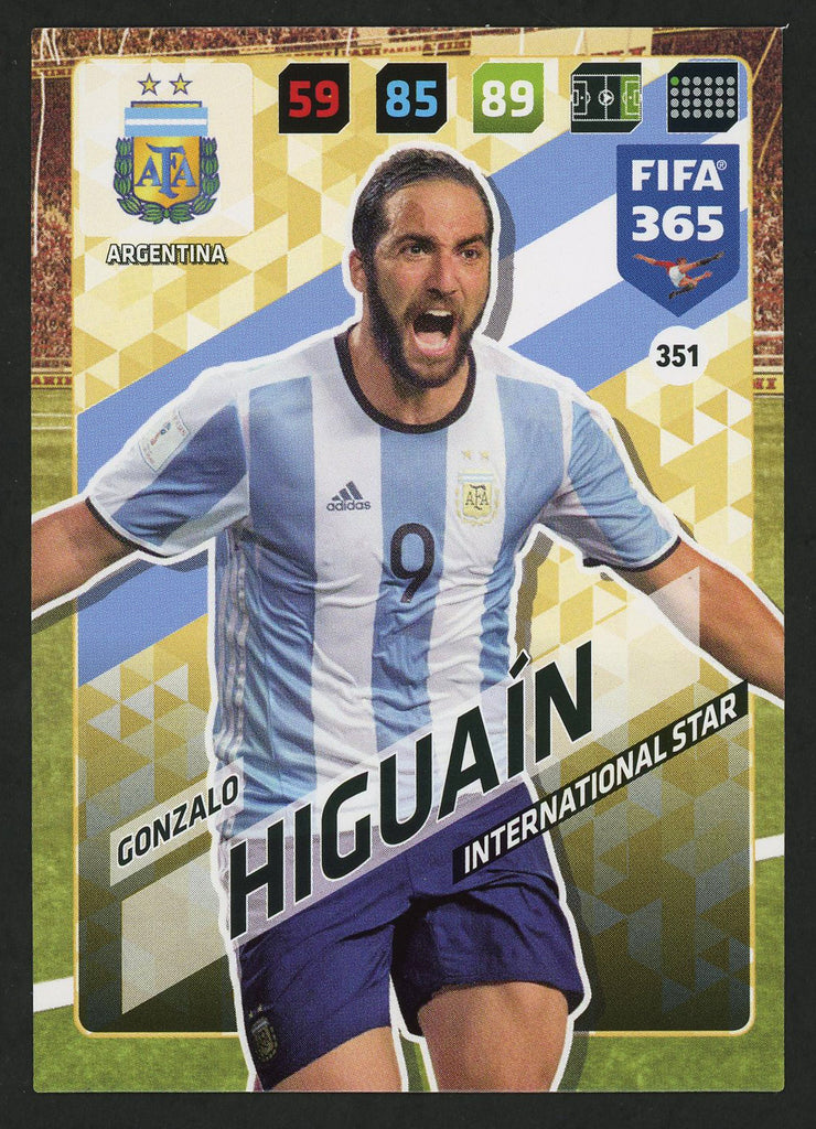 Gonzalo Higuaín Argentina FIFA 365 #351 Soccer International Star Sport Card
