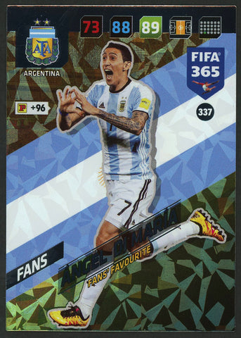 Angel Di Maria Argentina FIFA 365 #337 Soccer Fans Favourite Sport Card
