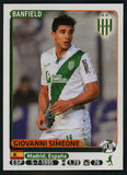 Giovanni Simeone Club Atletico Banfield #75 Soccer Sport Card Panini