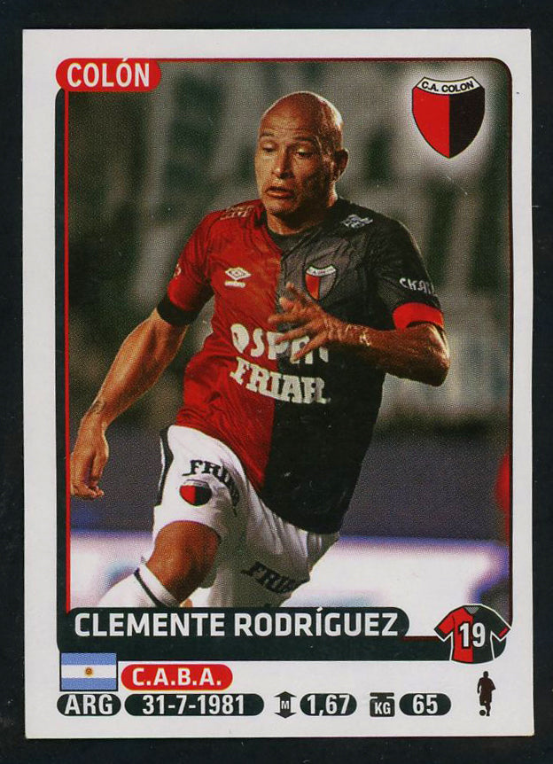 Clemente Rodriguez Club Atletico Colon Argentine #116 Soccer Sport Card Panini