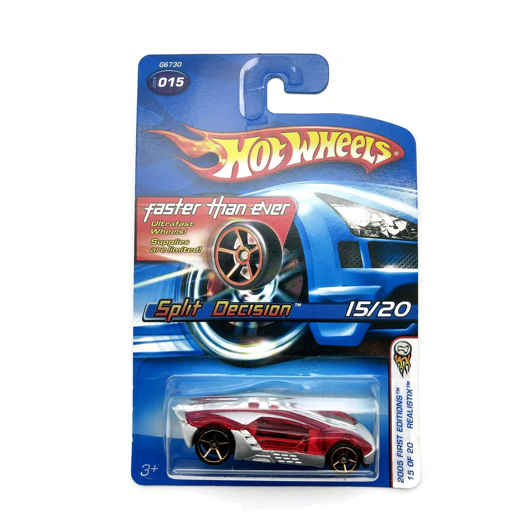 Hot Wheels 2005 First Editions, Realistix, Split Decision 15/20 #015, Red, NEW
